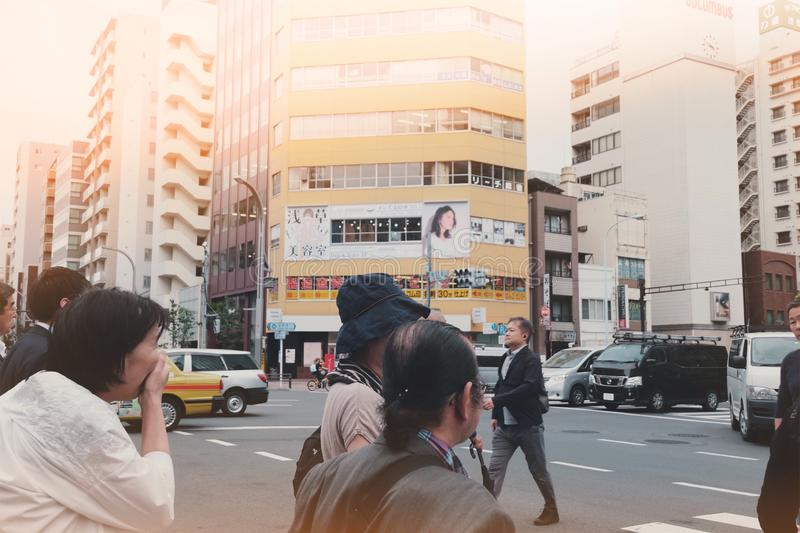 Rush hours in Tokyo stock photography