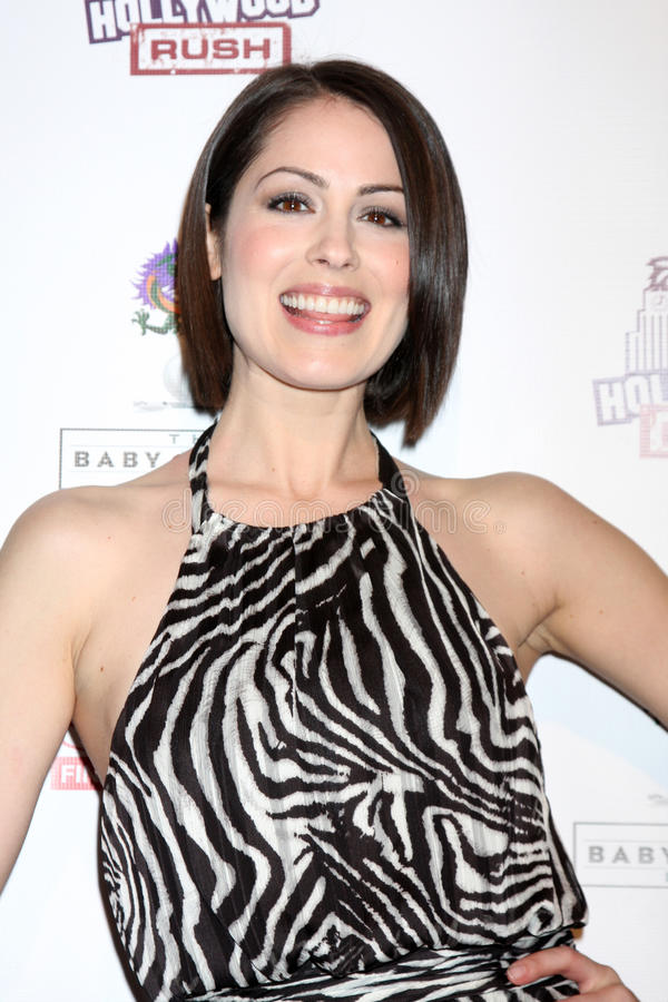 Rush, Michelle Borth. LOS ANGELES - FEB 19: Michelle Borth arrives at the 2nd Annual Hollywood Rush at the Wilshire Ebell on February 19, 2012 in Los Angeles, CA royalty free stock photo