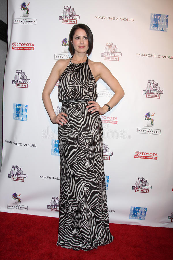 Rush, Michelle Borth. LOS ANGELES - FEB 19: Michelle Borth arrives at the 2nd Annual Hollywood Rush at the Wilshire Ebell on February 19, 2012 in Los Angeles, CA royalty free stock image