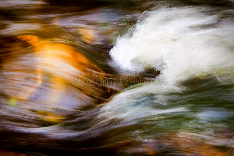 Rushing water. Image of moving water downstream from Minnehaha Falls in Minneapolis, MN. Slow shutter speed