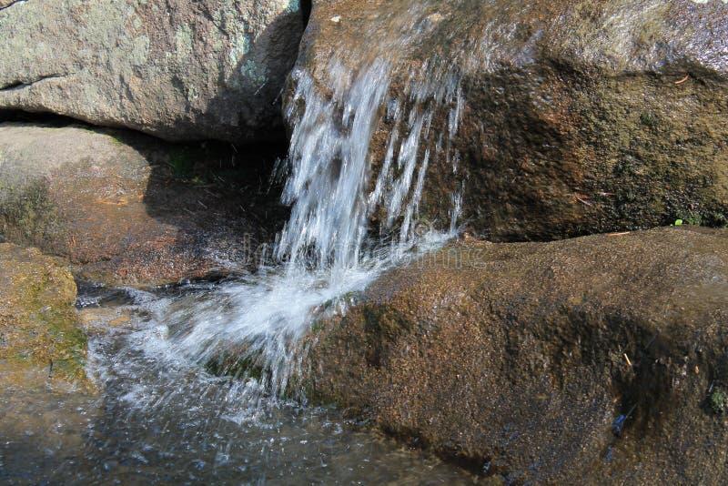 Rushing Water on Rocks royalty free stock photos