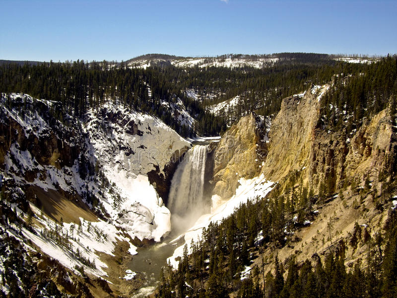 Download Rushing Yellowstone Falls Royalty Free Stock Images - Image: 25233629