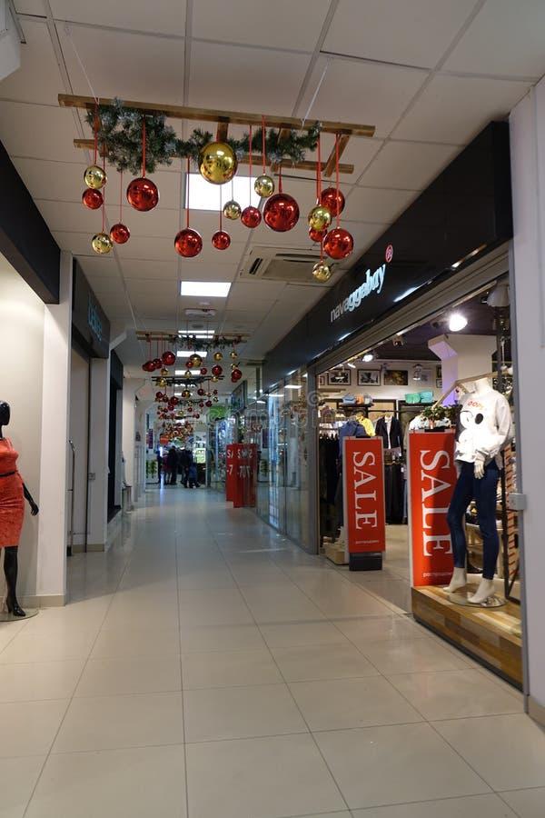 Rusia 2 de enero de 2018 Centro comercial fotografía de archivo libre de regalías