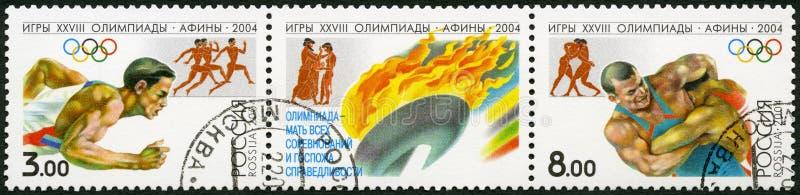 RUSIA - 2004: demostraciones 2004 Olimpiadas de los juegos del verano, Atenas foto de archivo libre de regalías