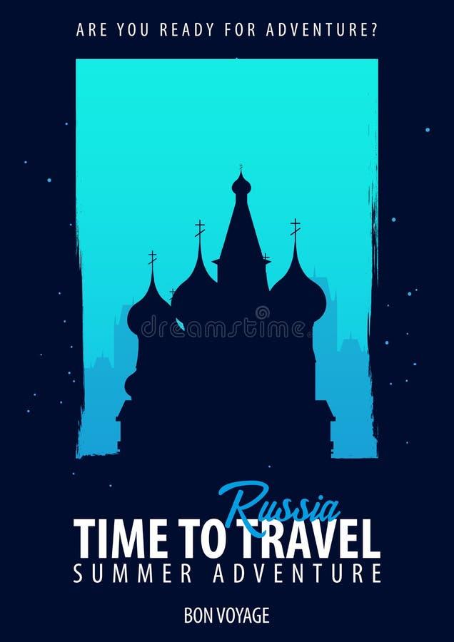 Rusia Hora de viajar Viaje, viaje, vacaciones Su aventura Bon Voyage libre illustration
