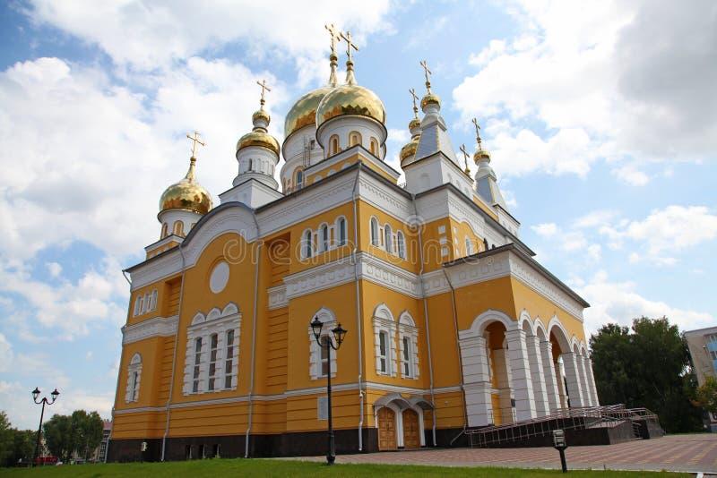 Rusia La iglesia de Cyril y de Methodius en Saransk foto de archivo libre de regalías