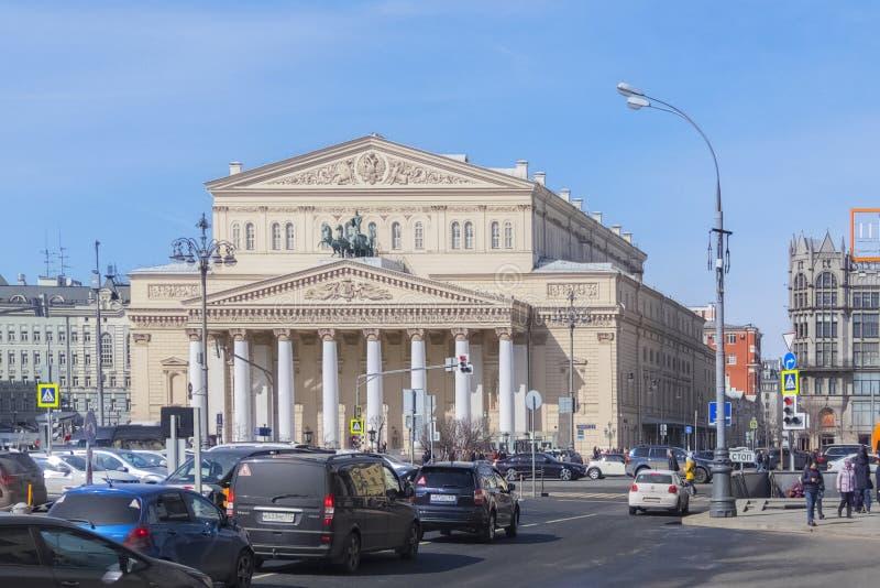 Rusia, Moscú, cuadrado del teatro, teatro de Bolshoi imagenes de archivo