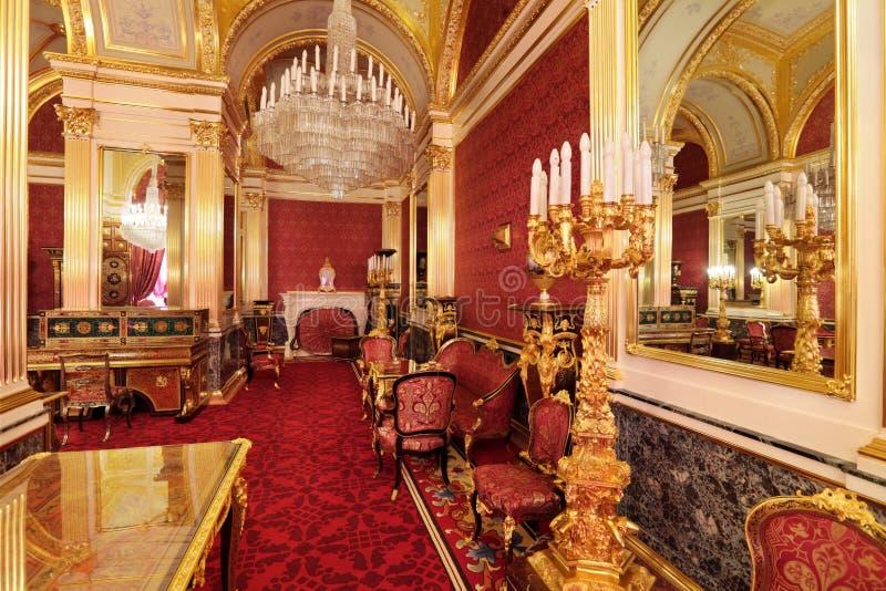 Interior magnífico del palacio del Kremlin foto de archivo libre de regalías