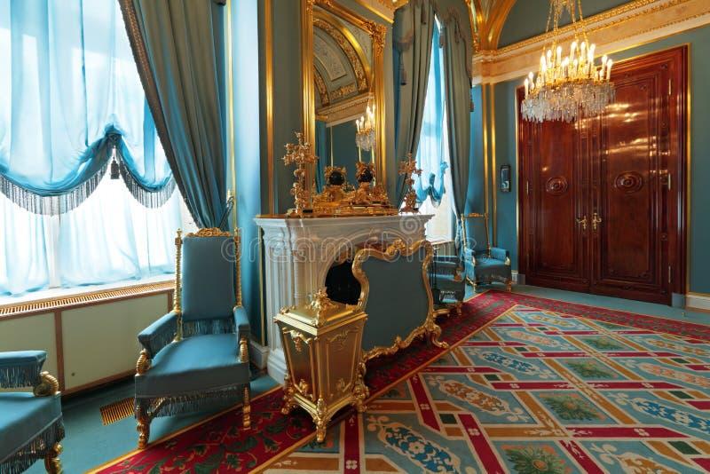 Interior magnífico del palacio del Kremlin fotografía de archivo libre de regalías