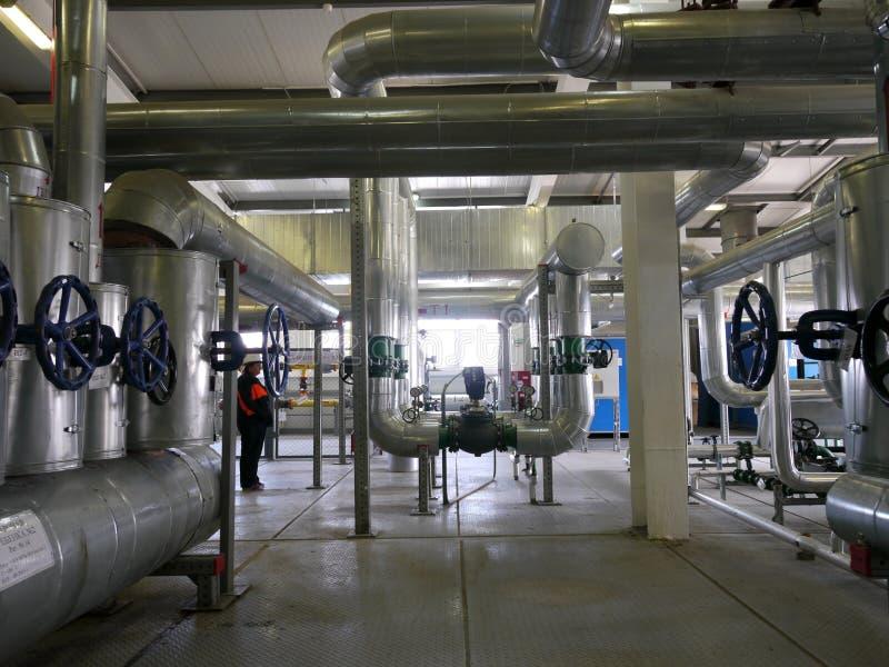 RUSIA, NADYM - 6 DE JUNIO DE 2011: Orporation GAZPROM del ¡de Ð en Novy Ureng imagenes de archivo