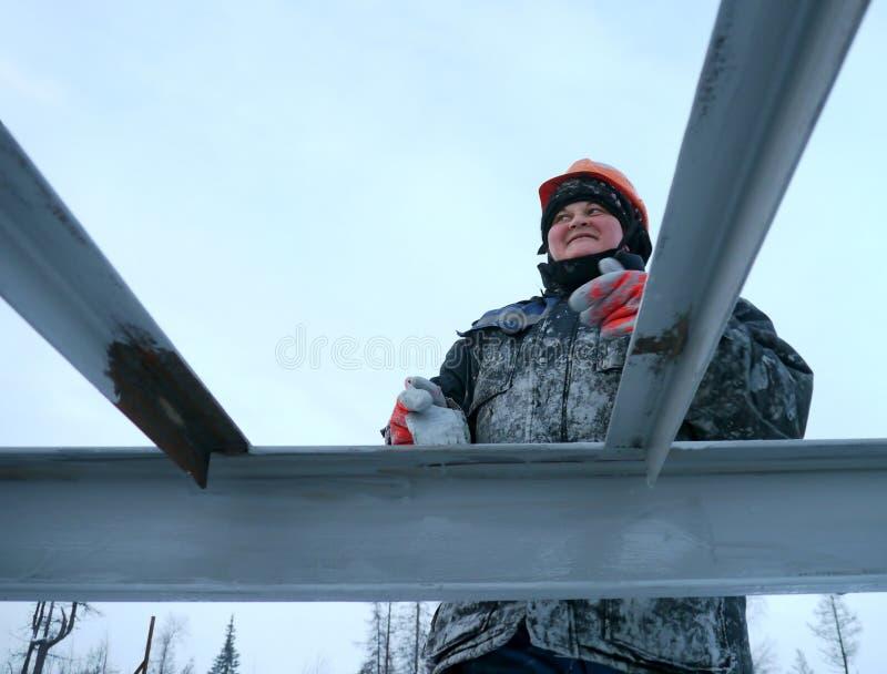 RUSIA, NADYM - 23 de noviembre de 2012: Orporation GAZPROM del ¡de Ð en Novy imágenes de archivo libres de regalías