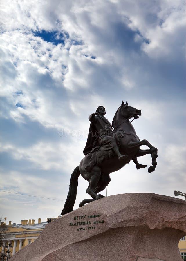 Rusia petersburg Monumento al zar Peter 1, jinete de bronce imágenes de archivo libres de regalías