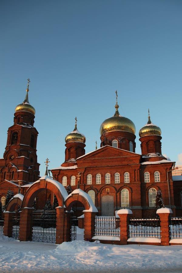 Rusia República de Mordovia, la iglesia de San Nicolás en Saransk fotos de archivo
