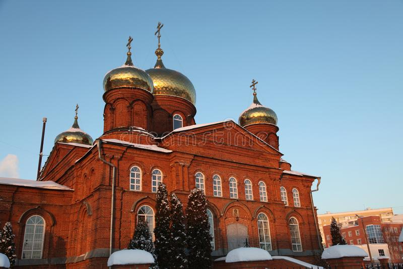 Rusia República de Mordovia, la iglesia de San Nicolás en Saransk imagenes de archivo