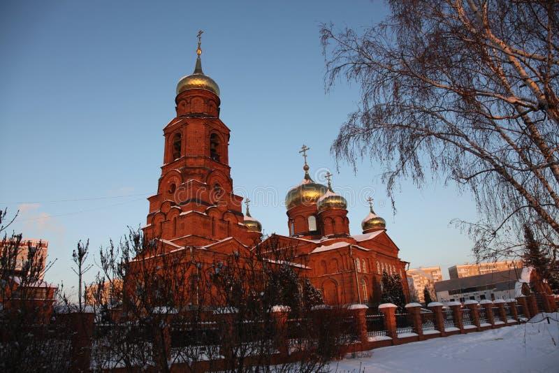 Rusia República de Mordovia, la iglesia de San Nicolás en Saransk imagen de archivo libre de regalías