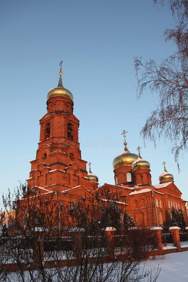 Rusia República de Mordovia, la iglesia de San Nicolás en Saransk foto de archivo