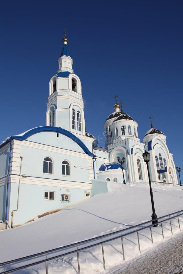 Rusia República de Mordovia, templo del icono de Kazán de la madre de dios en Saransk foto de archivo