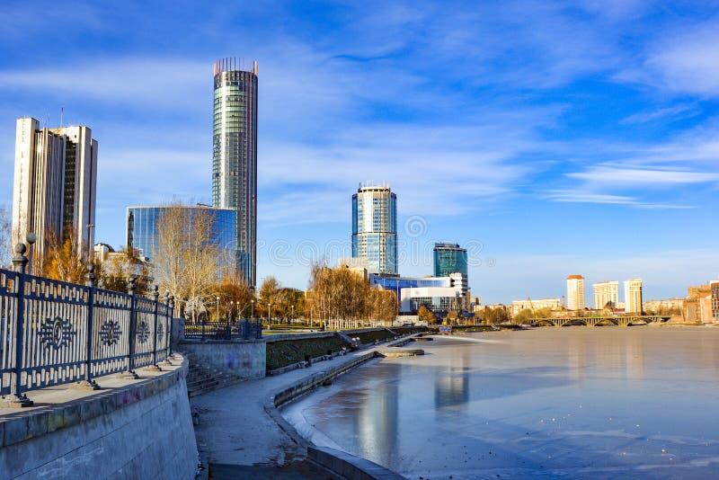 Rusia yekaterinburg Lugares icónicos famosos en la ciudad imágenes de archivo libres de regalías