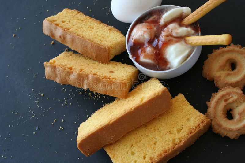 Rusk cake & biscuit royalty free stock photos