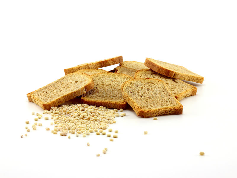 Rusk and grain stock photo