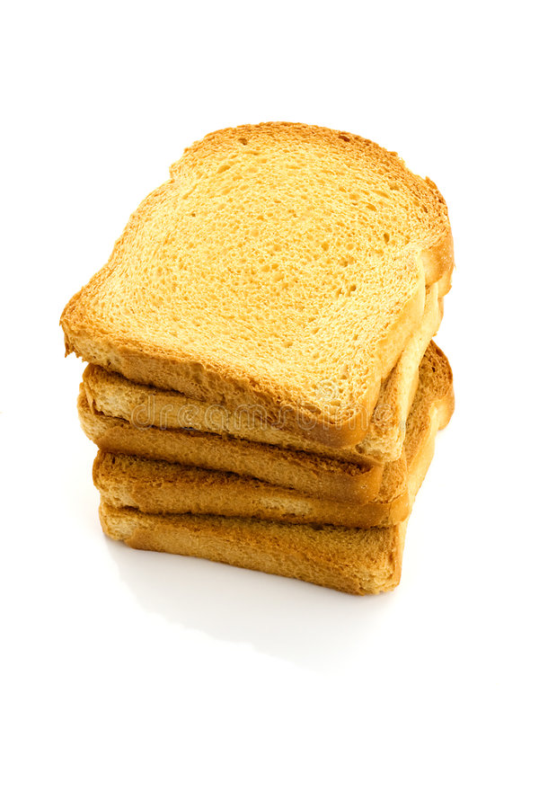 Rusk stack royalty free stock photos