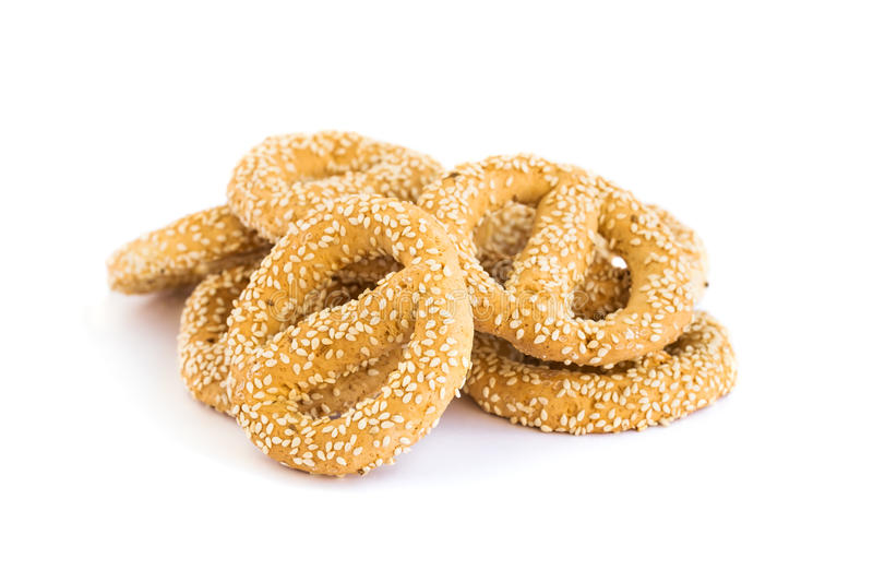 Rusks with sesame seeds stock image