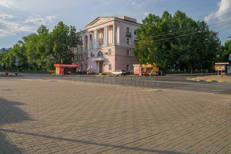 Rusland Arzamas Het Ziekenhuis van de stadsnoodsituatie stock foto's