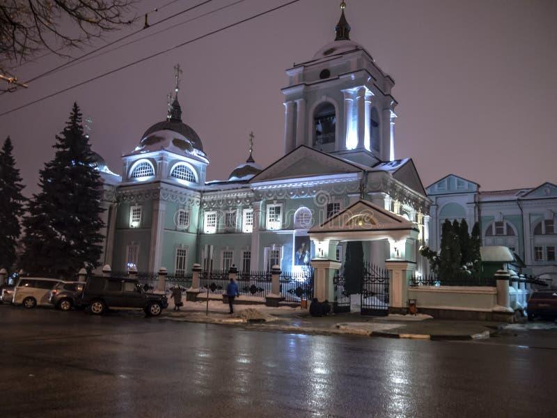 Rusland, Belgorod, st Preobrazhenskaya 63, 01 02 2019 royalty-vrije stock afbeelding