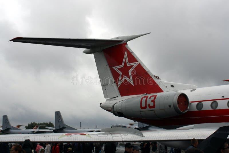 RUSLAND, Chelyabinsk - die 25 de de MEPactie van Augustus 2012 toont Bevrijdingsvliegtuigen door terroristen worden gekaapt stock fotografie