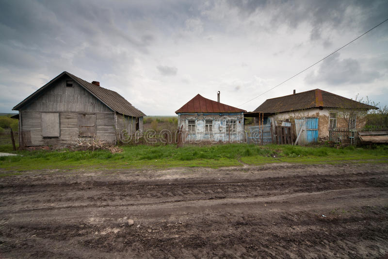 Rusland dorp stock foto's