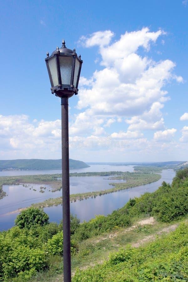 Rusland, grote rivier Volga royalty-vrije stock foto's