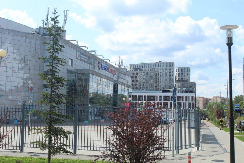 Rusland, het gebied van Moskou, de stad van Mytishchi, Vluchtstraat stock afbeelding