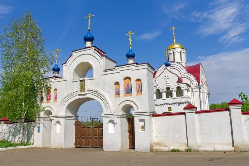 Rusland. Het gebied van Orel. Kerk in het dorp Pleshcheyevo. royalty-vrije stock foto's