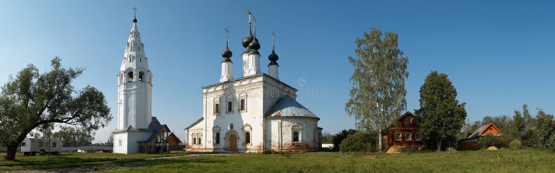 Rusland. Het gebied van Vladimir. Stad van Suzdal stock fotografie