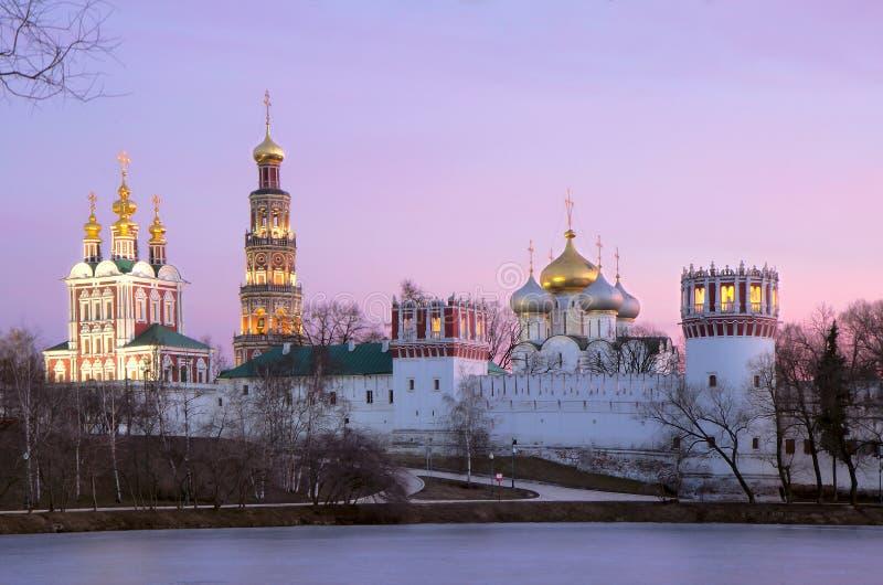 Rusland. Het Novodevichy-klooster in Moskou. stock fotografie
