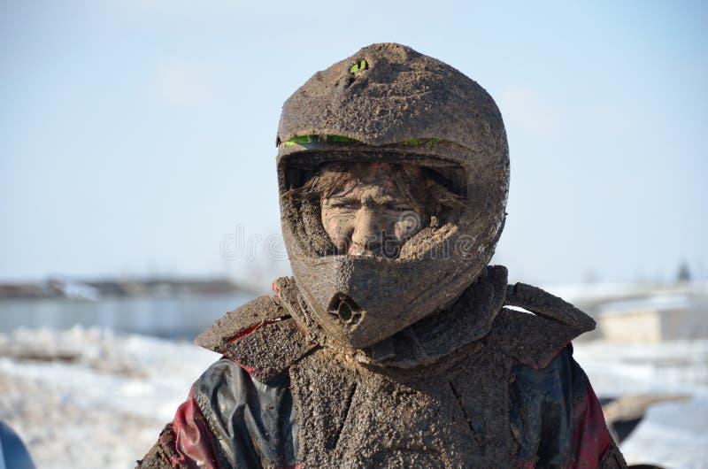Rusland, Mindere Samara.MX bevindt zich in een vuile helm stock afbeelding