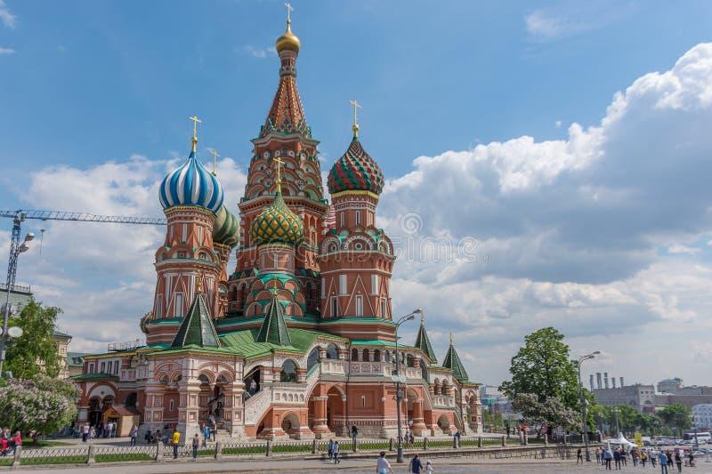 RUSLAND, MOSKOU, 8 JUNI, 2017: St Basilicum` s Kathedraal op Rood Vierkant stock afbeeldingen