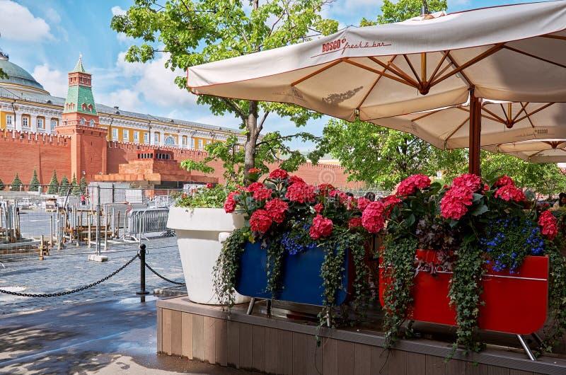Rusland Rood Vierkant in Moskou 25 mei, 2017 stock afbeeldingen