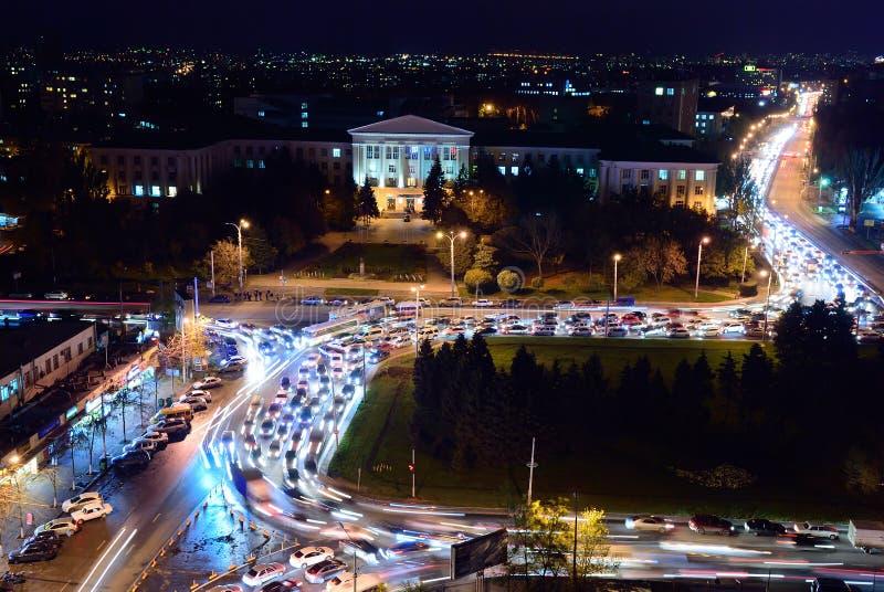 Rusland Rostov-op-trek aan Gagarinvierkant Don State Technical Unive stock foto's