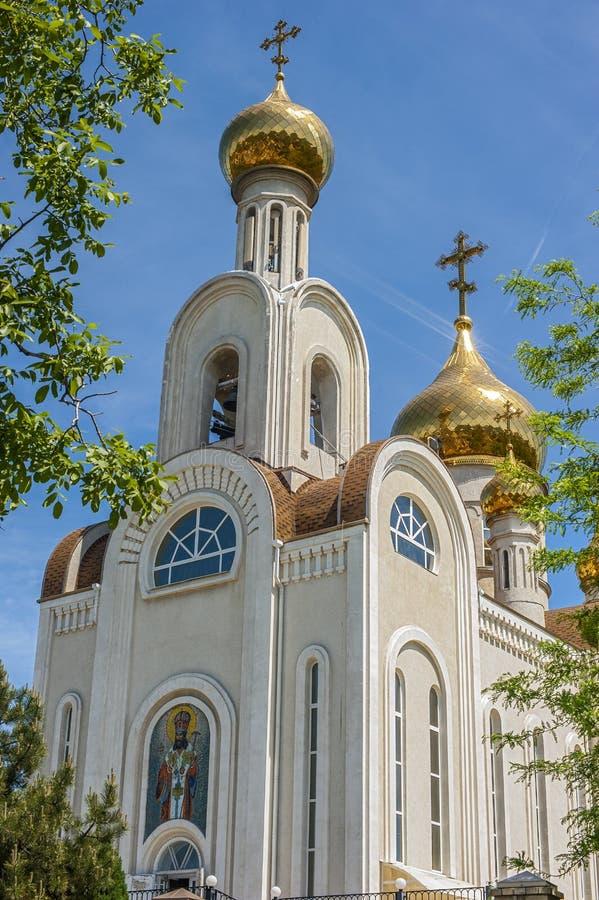 Rusland, Rostov- op-trekt aan Kerk van St Dimitri, Metropolitaans van stock foto