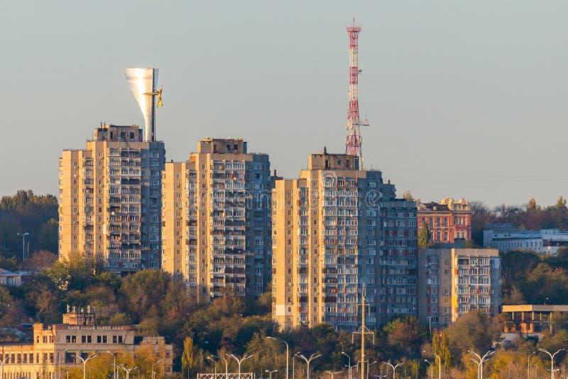 Rusland, rostov-op-trekt - 28 November, 2018 aan: Rostov op Don stadspanorama royalty-vrije stock fotografie