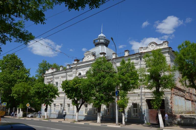 Rusland Ryazan Het inbouwen van het oude deel van de stad royalty-vrije stock foto