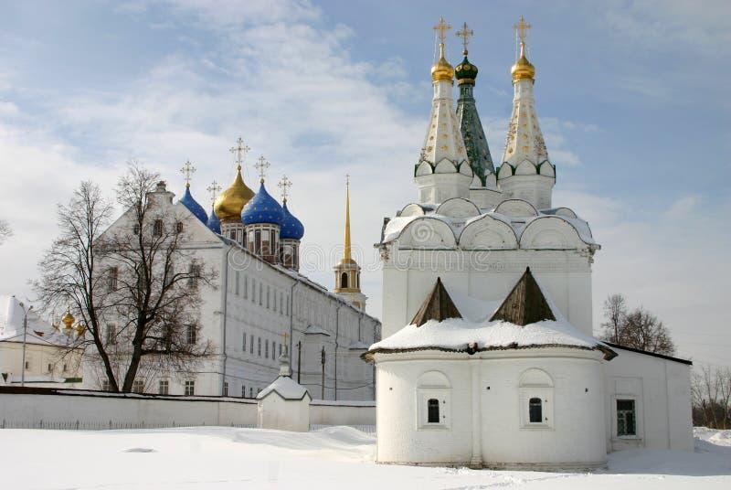 Rusland Ryazan het Kremlin Kerk van de Heilige Geest in Ryazan het Kremlin stock afbeelding