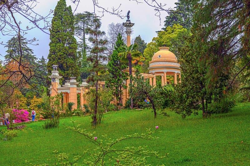 RUSLAND, SOTCHI, 1 MEI, 2015: Moorse as in het Arboretum van Sotchi, Rusland, 1 Mei, 2015 royalty-vrije stock fotografie
