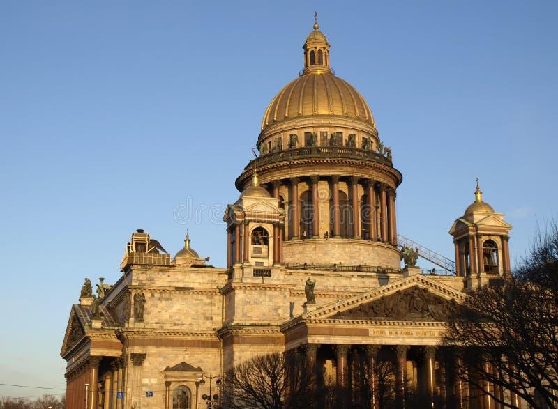 Rusland. St. - Petersburg. De kathedraal van Isaakievsky stock foto's