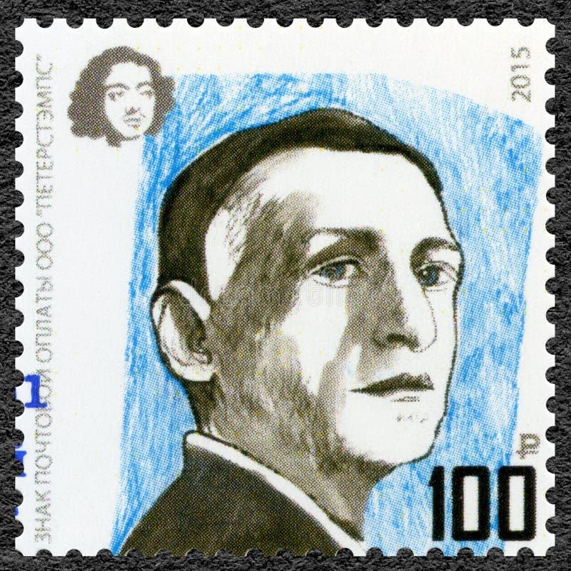 RUSLAND - 2015: toont Ivan Bunin 1870-1953, schrijver, de Laureaat van reeksnobel in Literatuur royalty-vrije stock foto's