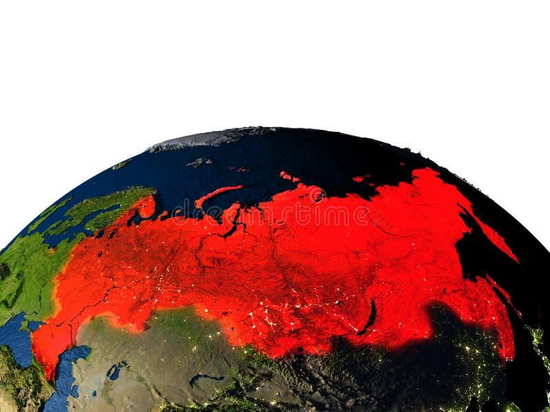 Rusland van ruimte bij nacht royalty-vrije illustratie