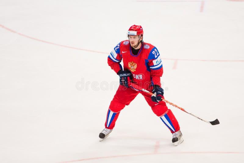 Rusland versus Canada. 2010 het Kampioenschap van de Wereld stock afbeeldingen
