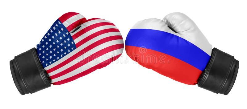 Rusland versus de V.S. royalty-vrije stock afbeelding