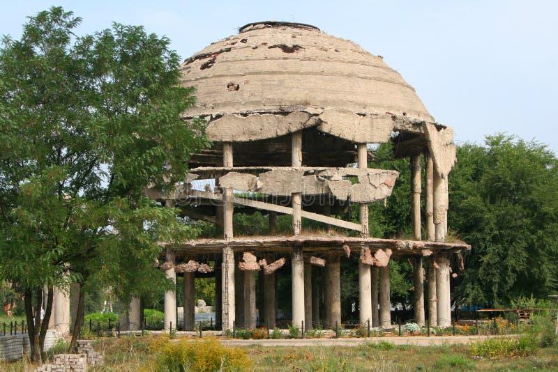 Rusland, Voronezh rotunda Monument aan de Wereldoorlog II stock afbeelding